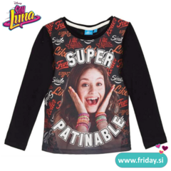 Majica Soy Luna 'Super Patinable' - črna