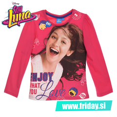 Majica Soy Luna 'Enjoy what you love' - fuksija
